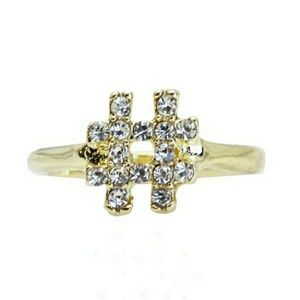 T&J Designs Jewelry - 18K Gold Czech Crystal # Ring